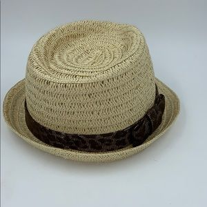 August Hat Co Straw Hat with Animal Print